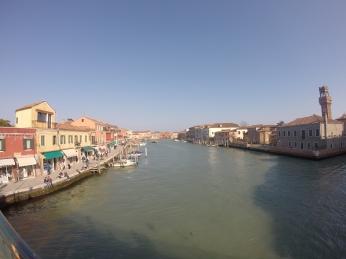 on a bridge in Murano