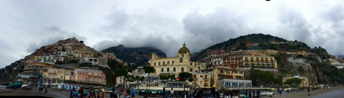 Positano from the beach man