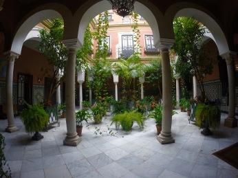 random courtyard in Seville, Spain