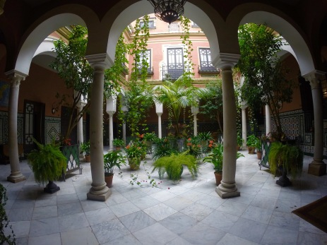 random courtyard in Seville, Spain