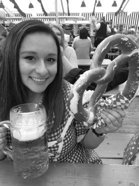 Stein & a pretzel